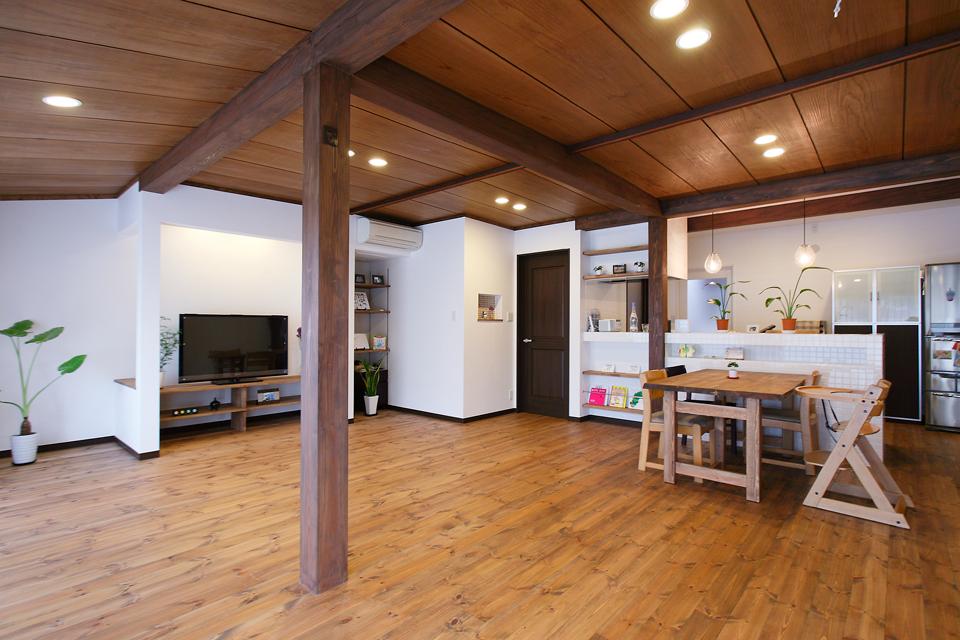 無垢床が心地よい、ロハスな家にリフォーム