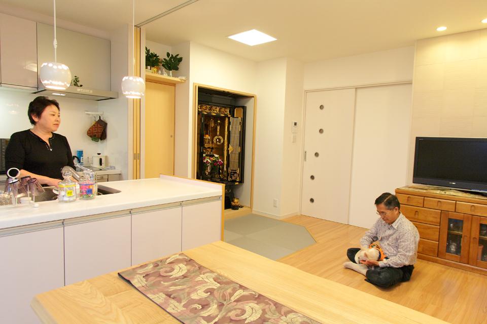 スペースを広く機能的に。人もペットも快適に暮らせる住まい。