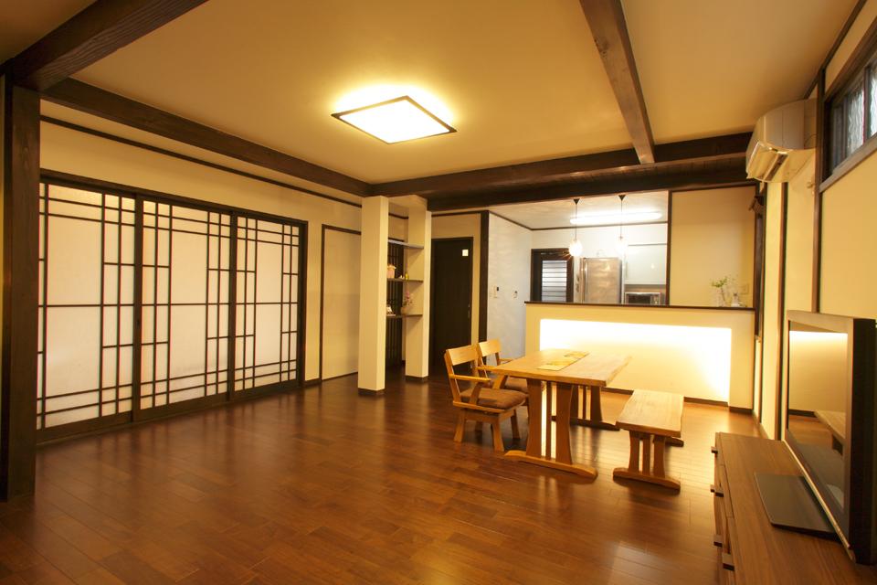 築33年の中古住宅を、新築同様の和モダンな住まいへ。