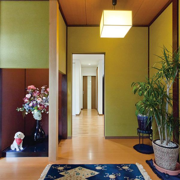 廊下をリビングに取り込む空間活用 リフォーム後